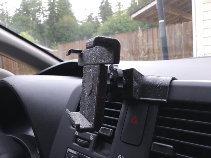 Nissan Leaf phone holder. PET plastic