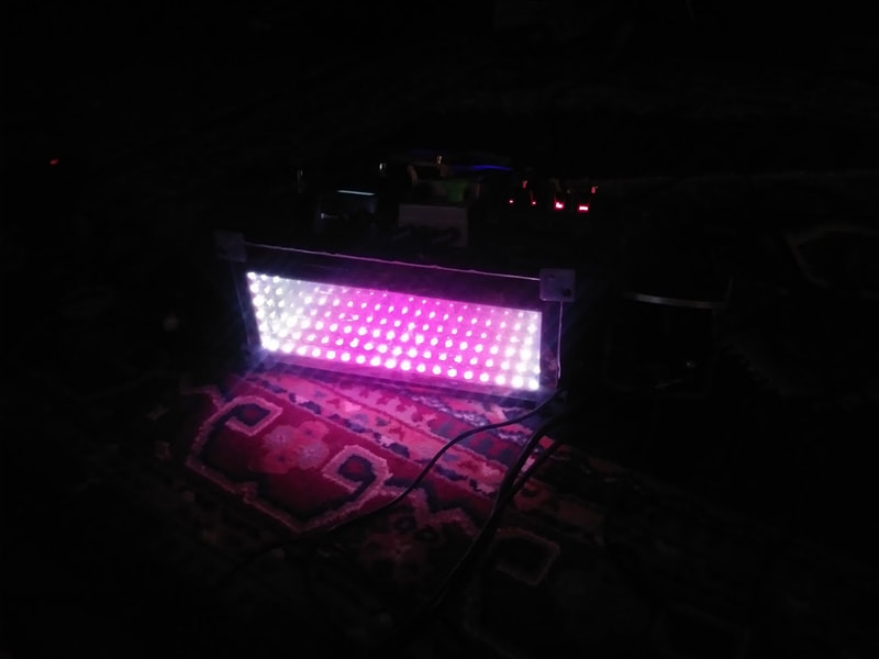 LED display for pedal board.