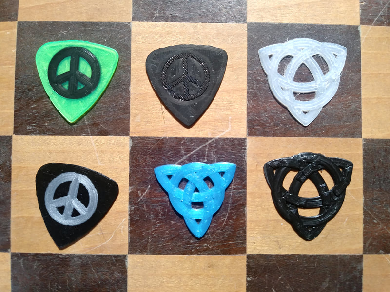 A small sample of custom picks